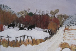 pastel, plein air, Boulder, Scotty Mitchell