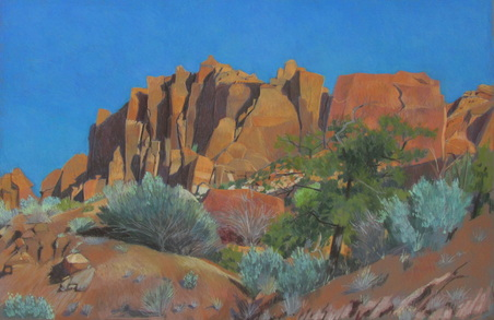 Long Canyon, Burr Trail, pastel, landscape, Scotty Mitchell