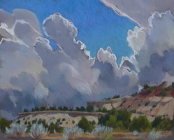 clouds, pastel landscape, plein air, Scotty Mitchell