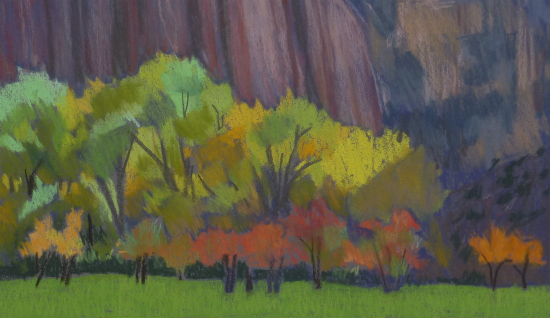Capitol Reef, Utah, plein air, Scotty Mitchell
