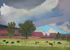 Torrey Utah, plein air, landscape, Scotty Mitchell