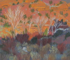 Calf Creek, southern Utah, pastel, Scotty Mitchell