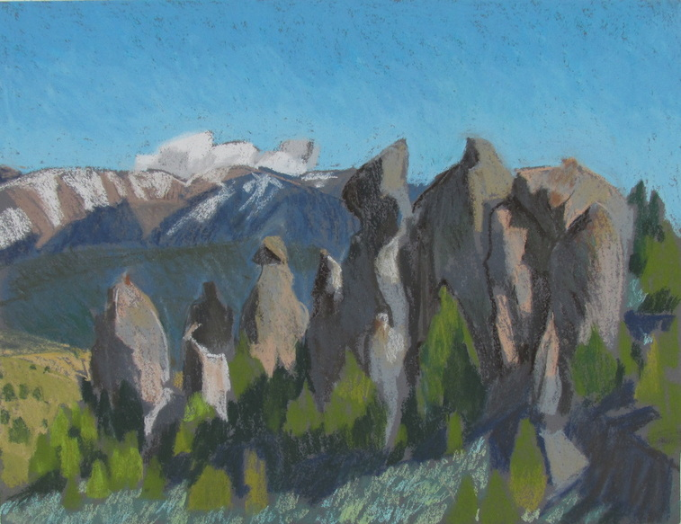 Scotty Mitchell, Utah, plein air pastel