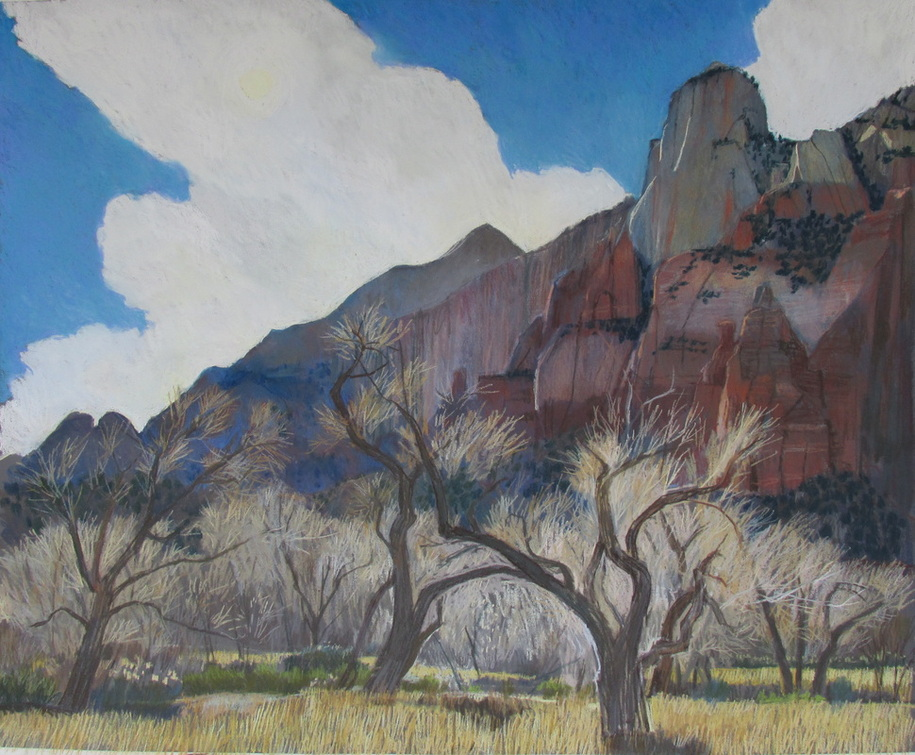 pastel, Zion, Utah, southwest, Scotty Mitchell