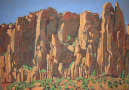 Long Canyon, southern Utah, pastel, plain air Scotty Mitchell