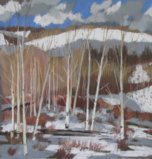 pastel, Boulder mountain, western landscape, Scotty Mitchell