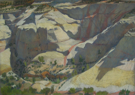 Dry Hollow, Boulder, Slickrock, pastel, Scotty Mitchell