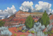 Long Canyon, GSENM, Utah, red rock' Scotty Mitchell, pastel