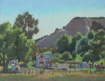 Boulder, Utah, pastel, Scotty Mitchell. plein air