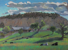 Boulder, Utah, pastel, plein air, Scotty Mitchell